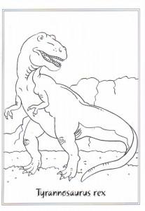 kleurplaat Tyrannosaurus rex