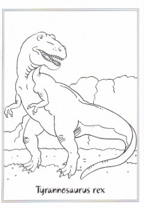 coloring page Tyrannosaurus rex