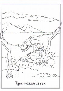 coloring page Tytannosaurus rex