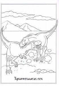 kleurplaat Tytannosaurus rex