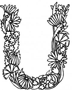 coloring page U (1)