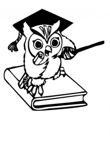 coloring page Owls (3)