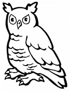 coloring page Owls (7)