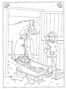 coloring page Fattening out