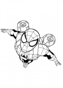 coloring page ultimate spiderman 2