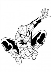 coloring page ultimate spiderman