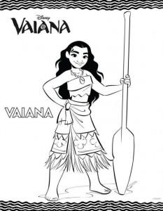 coloring page vaiana
