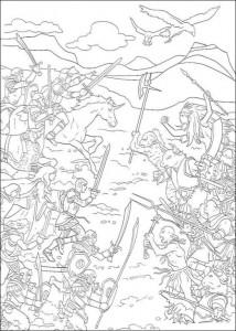 målarbok Battle