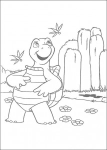 målarbok Verne, sköldpaddan