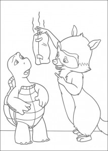 coloring page Verne and GJ (1)
