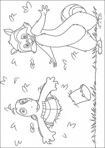 coloring page Verne and GJ