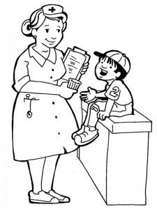 målarbok Sjuksköterska