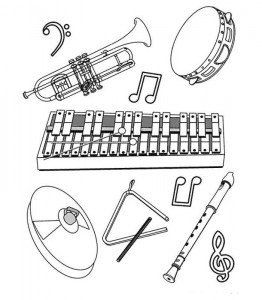 coloring page Different instruments