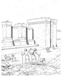målarbok Fästning