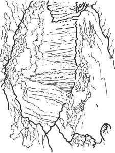 coloring page Vicoria waterfalls, Brazil