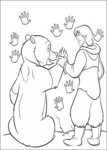 coloring page Finger maling