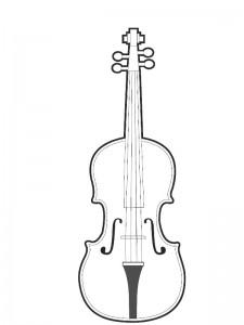 målarbok Violin (1)