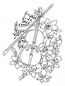 målarbok Violin (2)