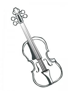 målarbok Violin