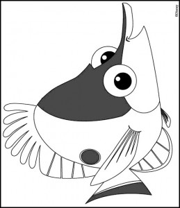 coloring page Fish (1)
