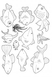 kleurplaat Vissen (14)