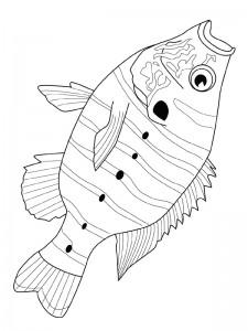 kleurplaat Vissen (2)