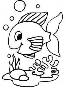 kleurplaat Vissen (21)