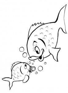kleurplaat Vissen (27)