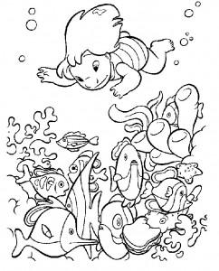 kleurplaat Vissen (29)