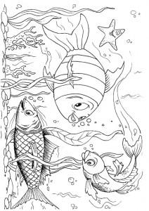 kleurplaat Vissen (34)