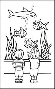 kleurplaat Vissen (39)