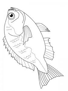 kleurplaat Vissen (8)