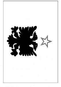 målarbok Albaniens flagga