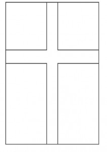 coloring page flagg Danmark