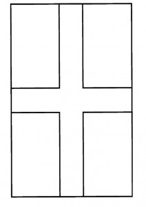 coloring page England flag