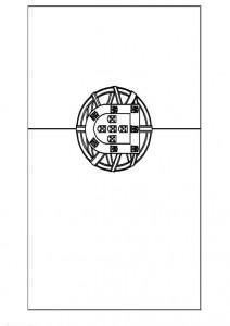 målarbok Flagga Portugal