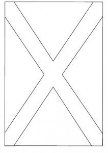 coloring page Flag of Scotland