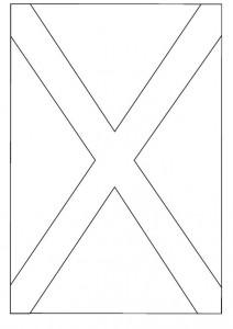 målarbok Flagga av Skottland
