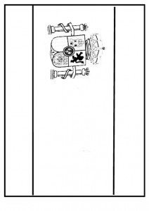 coloring page Spania flagg