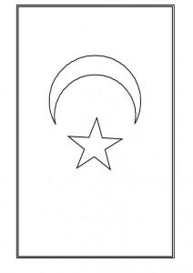 målarbok Turkiet flagga