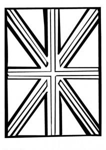 målarbok Storbritannien flagga