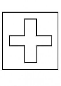 kleurplaat Vlag Zwitserland