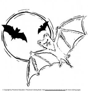 kleurplaat Vleermuizen (2)