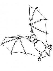 kleurplaat Vleermuizen (6)