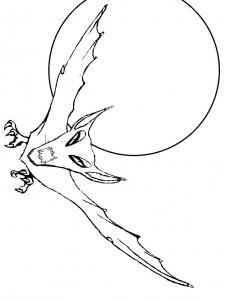 kleurplaat Vleermuizen (8)