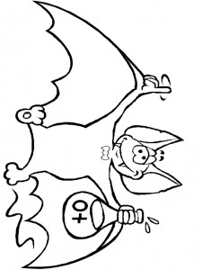 coloring page Bats (9)