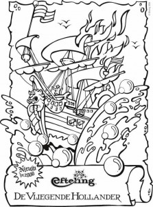 coloring page Flying Dutchman
