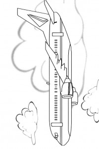 coloring page Airplane (1)