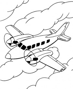 coloring page Airplane (13)