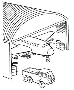 kleurplaat Vliegtuig (14)